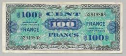 France - 100 Francs Série De 1944 Verso France Sans Série - Impression Américaine - Emissions De 1945 - 1944 Flag/France