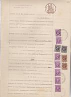 FOGLIO DOPPIO DI CARTA BOLLATA    DA LIRE 12 ...    1937    CON  MARCA - Fiscali