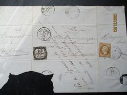 BAR SUR AUBE  A  COLOMBEY  LES DEUX EGLISES - 1863-1870 Napoleon III With Laurels