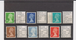 #1 GB Specialised Selection Of Machin Stamps - Machins