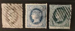 ESPAGNE - ANTILLES ESPAGNOLES - 1867 - N° 18/20 O (voir Scan) - Non Classificati