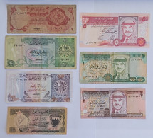 LOT DE 6 BILLETS:QATAR, BAHRAIN, JORDANIE - Unclassified