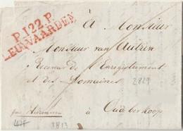 DEPARTEMENT CONQUIS - Marque P 122 P LEUWAARDEN Sur Lettre De 1813 - 1792-1815: Départements Conquis