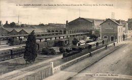 D44  SAINT NAZAIRE  La Gare De Paris Orléans Ouest Et Du Tramway De La Roche Bernard - Saint Nazaire