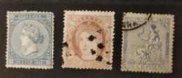 ESPAGNE - ANTILLES ESPAGNOLES - 1867/1871 - 3 Valeurs Dont 1* / 2o (voir Scan) - Non Classificati