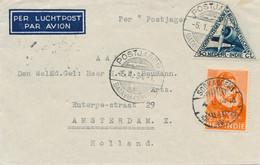 Nederlands Indië - 1934 - 12,5 Willem I En 30 Cent Luchtpost Op Postjager Cover Van LBnr Soekaboemi/3 Naar Amsterdam - Indie Olandesi