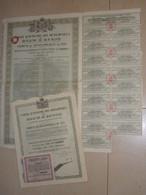ROUMANIE 2 X EMPRUNT DEVELOPPEMENT 7,5% OR 1931 Obligations De 5000 FF - Other