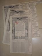 ROUMANIE 3 X RENTES UNIFIEES 1929 4,5 % Obligations De 5000 Francs Or Avec Coupons - Other