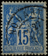 -Sage N°90  Type II  Ob  ( CAD ) NOUART ( 07 ) - 1876-1898 Sage (Type II)