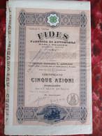 Auto. BRASIER Rare Action Italienne Rome 1906 - Cars