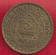 MAROC 5 FRANCS - 1365 - Morocco