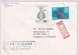 Peru - R-Bedarfsluftpostbeleg Von Lima Nach Bonn - Perù
