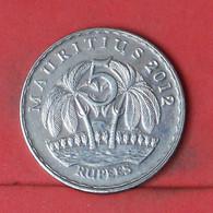 MAURITIUS 5 RUPEES 2012 -    KM# 56 - (Nº41873) - Mauritius