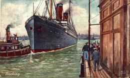DOCKING A TRIP TO EUROPE   Ship Navy Navire Boat - Piroscafi