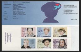 FINLANDIA 1992 - MUJERES FINLANDESAS ILUSTRES - YVERT Nº 1147/1152** CARNET C1147 - Nuevos