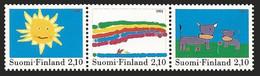 FINLANDIA 1991 - DISEÑOS INFANTILES - YVERT Nº 1115/1117** - Nuevos