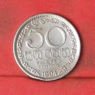 SRI LANKA 50 CENTS 1994 -    KM# 135,2 - (Nº41883) - Sri Lanka