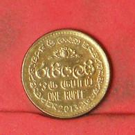 SRI LANKA 1 RUPEE  2013 -    KM# 136,3 - (Nº41884) - Sri Lanka