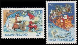 FINLANDIA 1991 - NAVIDAD - NOEL - CHRISTMAS - YVERT Nº 1123/1124** - Nuevos