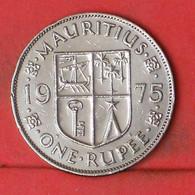 MAURITIUS 1 RUPEE 1975 -    KM# 35,1 - (Nº41893) - Mauritius