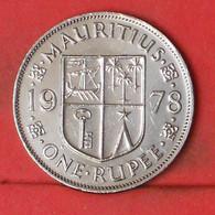 MAURITIUS 1 RUPEE 1978 -    KM# 35,1 - (Nº41894) - Mauritius