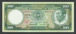 EQUATORIAL GUINEA. 100 PESETAS GUINEANAS. 7/7/1975. Pick 11. UNC / NEUF. - Equatorial Guinea