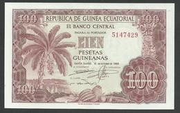 EQUATORIAL GUINEA. 100 PESETAS GUINEANAS. 12/10/1969. Pick 1. UNC / NEUF. - Equatorial Guinea