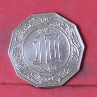 ALGERIA 10 DINARS 1981 -    KM# 110 - (Nº41915) - Algeria