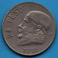 MEXICO 1 PESO 1971 KM# 460 José María Morelos Y Pavón - Mexico