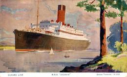 Cunard Line - R.M.S.  Ascania  Ship Navy Navire Boat - Steamers