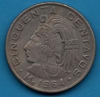 MEXICO 50 CENTAVOS 1964 KM# 451 - Mexico