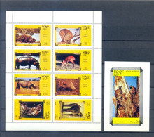 OMAN ANIMALS SHEET + BLOCK  MNH - Zonder Classificatie
