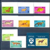 ST. KILDA ANIMALS SET + BLOCK IMPERFORED  MNH - Zonder Classificatie