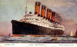 "CUNARD LINE R.M.S. ""MAURETANIA""   Ship Navy Navire Boat - Steamers"