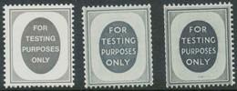 GB FOR TESTING PURPOSES ONLY 3 Different U/M TESTING Stamps For Vending Machine - Abarten & Kuriositäten