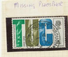 "GB 1968, 4 D ""T.U.C."" And Trade Unionists VFU Rare CDS ""STALLINGBOROUGH"" (Lincolnshire), VARIETY: MISSING PHOSPHOR - Abarten & Kuriositäten"