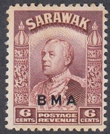 Sarawak, Scott #140, Mint Hinged, Brooke Overprinted, Issued 1945 - Sarawak (...-1963)