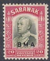 Sarawak, Scott #145 Mint Hinged, Brooke Overprinted, Issued 1945 - Sarawak (...-1963)