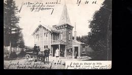1127-HAMOIR ENVIRONS-cafe Du Chalet De VILLE-attelage -pli Centrale Voir Etat -envoyee à HERVE - Hamoir