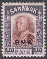 Sarawak, Scott #147, Mint Hinged, Brooke Overprinted, Issued 1945 - Sarawak (...-1963)