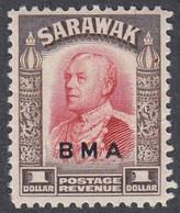 Sarawak, Scott #149, Mint Hinged, Brooke Overprinted, Issued 1945 - Sarawak (...-1963)