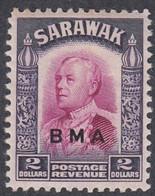Sarawak, Scott #150, Mint Hinged, Brooke Overprinted, Issued 1945 - Sarawak (...-1963)