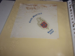Serviette  Publicitaire  Militaire Cercle Mixte  14:/8     BEAUNE 21200 - Company Logo Napkins