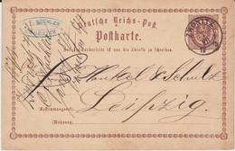 REDUZIERT Sachsen Nv K2 Zwönitz Ganzsache DR P 1 N Leipzig 1873 - Sachsen