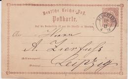 Sachsen Nv K2 Burgstädt Ganzsache DR P 1 N Leipzig 1873 - Sachsen
