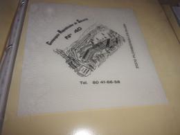 Serviette  Publicitaire  Militaire CRS 40 PLOMBIERES LES DIJON - Company Logo Napkins