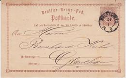 REDUZIERT Sachsen Nv K2 Meuselwitz Ganzsache DR P 1 N Glauchau 1874 - Sachsen