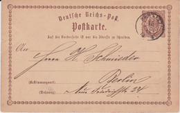 Sachsen Nv K2 Sebnitz Ganzsache DR P 1 N Berlin 1873 - Sachsen