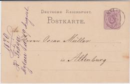 Sachsen Nv K2 Mylau Vogtland Ganzsache DR P 5 N Altenburg 1879 - Sachsen