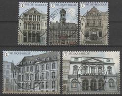 4527/4531 La Grand Place De Mons /Grote Markt Van Bergen Oblit/gestp Centrale - Usados